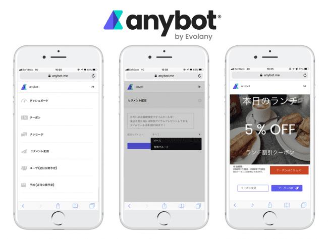 anybotもモバイル版でスマホだけでミニアプリ運用1