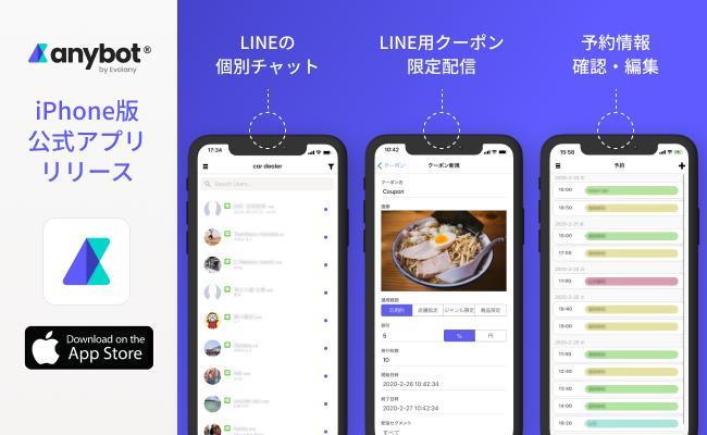 iPhone版anybot公式アプリのリリース1